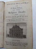 Thomas Tanner - Notitia Monastica: Or A Short History of The Religious Houses In England And Wales -  - KHS0008942