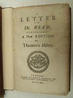 [Samuel Buckley] - A Letter to Dr. Mead Concerning a New Edition of Thuanus's History. -  - KHS0009129