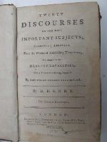 D[avid] Henry - Twenty discourses on the most important subjects; carefully abridged, from the works of Archbishop Tillotson, and adapted to the meanest capacities with a view to their being dispe -  - KHS0012014