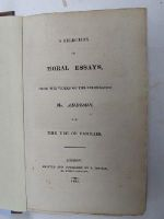 Mr. Addison - A Selection of Moral Essays -  - KHS0023702
