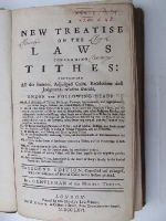 [Anon] - A New Treatise on a Law Concerning Tithes, Containing all the Statutes, Adjudged Cases, Resolutions and Judgments Relative Thereto . . . -  - KHS0025132