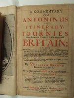 William Burton - A Commentary on Antoninus, his Itinerary, or Journies of the Romane Empire, So Far as it Concerneth Britain: Wherein The First Foundation of Our Cities, Lawes, and Government, acco -  - KHS0025142