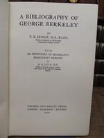 Jessop, T. E. - A bibliography of George Berkeley -  - KHS0032143