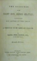 Daniel Owen Madden - The Speeches of the Right Hon. Henry Grattan, to Which is Added His Letter on the Union with a Commentary on His Career and Character -  - KHS0049404