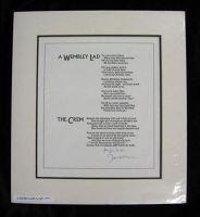 John Betjeman - A Wembley Lad & The Crem (Broadsheet) -  - KHS0056639