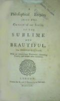 Edmund Burke - A Philosophical Enquiry into the Origin of Our Ideas of the Sublime and Beautiful -  - KHS0058084