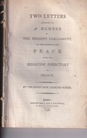 Edmund Burke - Two Letters Addressed to a Member of the Present Parliament, on the Proposals for Peace with the Regicide Directory of France -  - KHS0058405