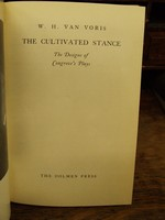 W.H. Van Voris - The Cultivated Stance - The Designs Of Congreve's Plays -  - KHS0081607