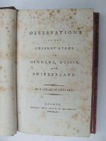 Anon. - Observations on the Present State of Denmark, Russia, and Switzerland:  In a Series of Letters -  - KHS0081978