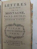 J. J. Rousseau - Lettres Écrites De La Montagne: Premier Partie -  - KHS0081979