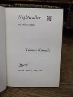 Thomas Kinsella - Nightwalker:  And Other Poems -  - KHS1003502
