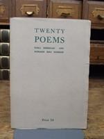 Niall Sheridan and Donagh Mac Donagh - Twenty Poems - B002ERL4HK - KHS1003621
