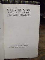 Richard Rowley - City Songs And Others -  - KHS1003876