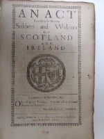 Cromwell in Ireland - An Act Providing for Maimed Soldiers and Widows of Scotland and Ireland, 1651 -  - KHS1004412
