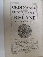Cromwell in Ireland - An Ordinance for Admitting Protestants in Ireland to Compound -  - KHS1004413