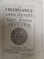 Cromwell in Ireland - An Ordinance for Distribution of the Elections in Ireland, 1654 -  - KHS1004414