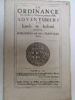Cromwell in Ireland - An Ordinance for the Further Encouragement of the Adventurers for Lands in Ireland , and of the Souldiers and Other Planters There -  - KHS1004416