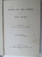 Anon. - Songs in the Night and Other Poems -  - KHS1004467