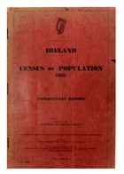 Central Statistics Office (Compiler) - Ireland:   Census of Population 1951, Preliminary Report -  - KHS1004699