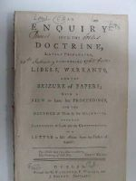 Father of Candor - An Enquiry into the Doctrine Lately Propagated concerning Libels, Warrants and the Seizure of Papers:  With a View to Some Late Proceedings and the Defence of Them by The Majority  -  - KHS1008976