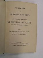 W. M. Conyngham, Lord Plunket - Speeches At The Bar And In The Senate -  - KHS1017683