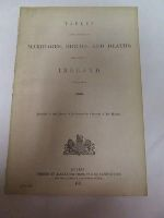 - Marriages, Births and Deaths (Ireland):  Tables, 1866 -  - KHS1018841