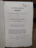 William Kinsella - Controversial Letters, in Reply to Rev. Mr. Pope, Rev. Mr. Day, Rev. Dr. Singer, and others. Also Remarks on the Canon of the Holy Scriptures -  - KLN0000182