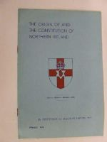 D. L Savory - The origin of and the Constitution of Northern Ireland -  - KLN0007416
