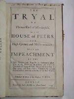 Thomas Parker, 1st Earl of. Macclesfield - The Tryal of Thomas Earl of Macclesfield, In the House of Peers, for High Crimes and Misdemeanors; Upon an Impeachment by the Knights Citizens and Burgesses in Parliament Assembled -  - KNW0012976