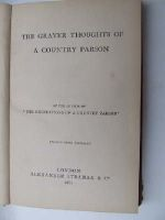 Anon. - The Graver Thoughts of a Country Parson -  - KNW0013514