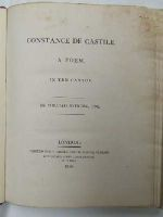 William Sotherby, Esq. - Constance de Castile. A Poem, in Ten Cantos -  - KNW0013858