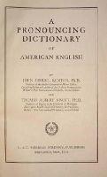 John Samuel Kenyon - A Pronouncing Dictionary of American English -  - KON0804144