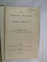 D.J. O'Donoghue - The Geographical Distribution Of Irish Ability -  - KON0822434