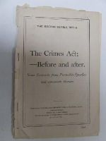 - The Crimes Act; - Before and After. Some Extracts from Parnellite Speeches and Comments Thereon (The Recess Series, 1887 - 8) -  - KON0823847