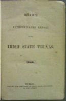 Henry Shaw - Shaw's Authenticated Report Of The Irish State Trials 1844 -  - KON0826966