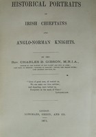 Rev. Charles B. Gibson - Historical Portraits of Irish Chieftains and Anglo-Norman Knights -  - KST0011411