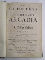 Sidney (Sir Philip) - The Countess of Pembroke's Arcadia. With His Life And Death; a brief Table of the principal heads, and some other new additions. -  - KTJ0002264