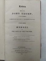 Thorp (John) - Letters of the late John Thorp, of Manchester, a Minister of the Gospel in the Society of Friends: To Which Is Prefixed a Memoir of the Life of the Writer -  - KTJ0003189