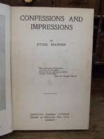 Ethel Mannin - Confessions and Impressions -  - KTK0094587